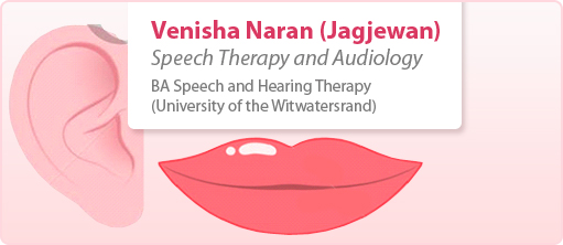 Venisha Naran speech and audiology therapist